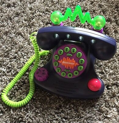 Vintage Collectible 1987 Nickelodeon Talk Blaster Telephone Free Shipping