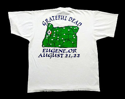 Grateful Dead Shirt T Shirt Vintage 1993 University of Oregon Ducks Eugene OR L
