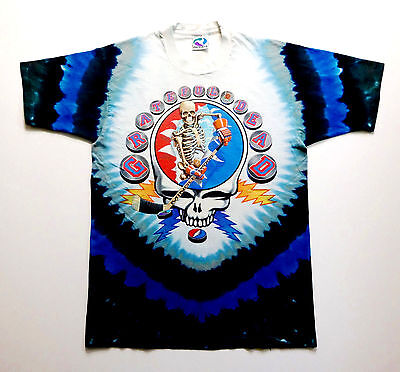 Grateful Dead Shirt T Shirt Hockey Stick Puck Gloves NHL 1994 Vintage Tie Dye L