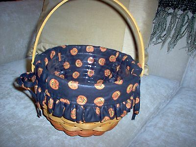 Cute Longaberger Basket-Halloween Pumpkins-Complete-Signed 1996-Dresden Ohio