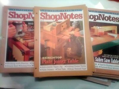 Huge lot, 69 issues of SHOPNOTES magazine Woodworking