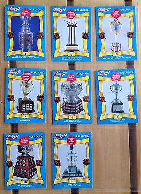 Kellogg's Rice krispies 1992 NHL Trophy Series Hockey Cards 8 Cards
