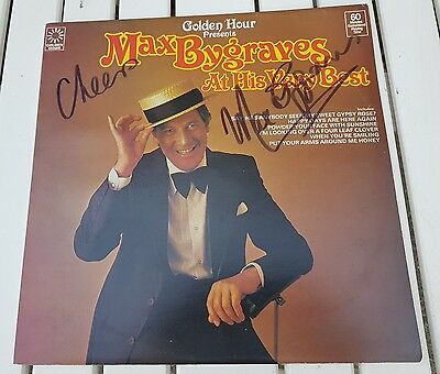 SIGNED AUTOGRAPHED MAX BYGRAVES. At his very best  LP RECORD ALBUM music