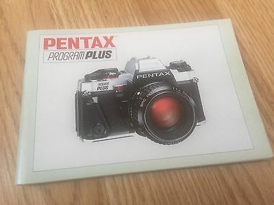 PENTAX PROGRAM PLUS InStRUCTIoN MANUAL GUIDE DIRECTIONS B9oK