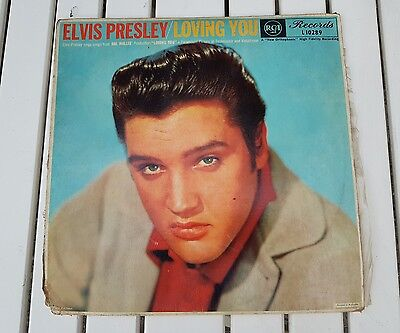 Elvis Presley Loving You LP record music
