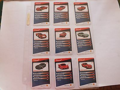Shell V-Power Ferrari Cards X 9 Mint