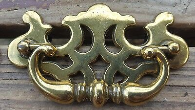 "Vtg Drawer Pulls Handles Chippendale Ornate Dresser Repair Replacement 3"" Center"