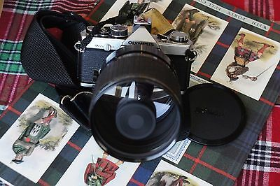 Olympus OM-2n 35mm SLR Film Camera with Sigma Mirror 600mm f8 Lens