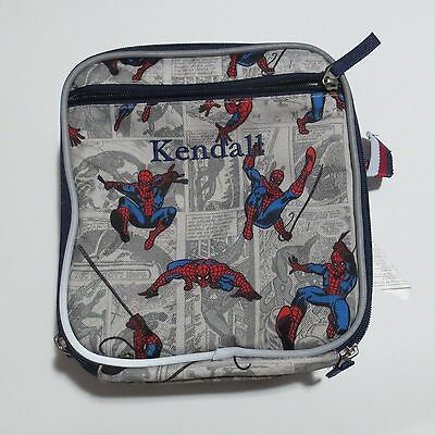 Pottery Barn Kids Insulated Lunch Box bag SUPERHERO MARVEL SpiderMan KENDALL