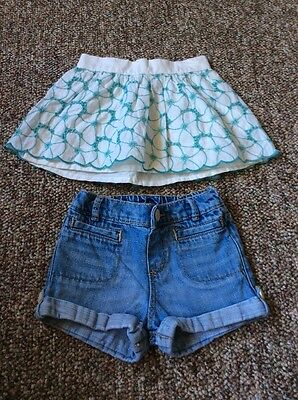 Baby Gap Skirt Size 2 Years And Shorts Size 18-24 Months