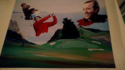 golf art by howard layte SIGNED  - andy williams open 1983 san diego