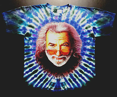 Grateful Dead Shirt T Shirt Vintage 1995 Jerry Garcia Winged Rose Tie Dye JGB XL