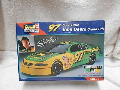 John Deere Chad Little 97 Sealed Nascar 1997 Pontiac Grand Prix Revell Model Kit