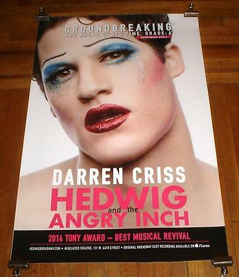 HEDWIG AND THE ANGRY INCH DARREN CRISS BROADWAY NYC 4FT subway POSTER