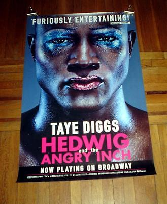 HEDWIG AND THE ANGRY INCH BROADWAY NYC Taye Diggs 4FT subway POSTER