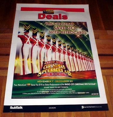 Radio City Music Hall Rockettes Soldiers Subway Poster