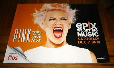 PINK THE TRUTH ABOUT LOVE CONCERT subway POSTER 5FT Alecia Beth Moore 2013