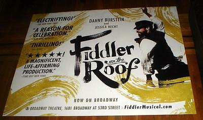 FIDDLER ON THE ROOF the musical 5ft SUBWAY POSTER Broadway NY NYC 2016