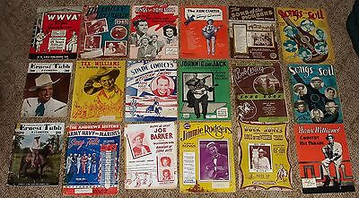 Assortment of 18 Vintage Song Books -- Country / Western