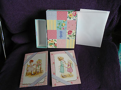 **pretty** 9 Pack Holly Hobbie Hobby Note Lets Cards & Envelopes Free P & P