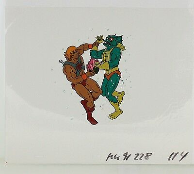 He-Man Masters of the Universe Original Animation filmation Cel HE-MAN MER-MAN