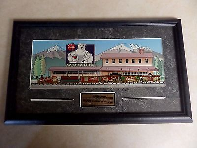 Rare Beautiful Coca Cola Train Set 1997 Pin Set Framed Limited Edition #288