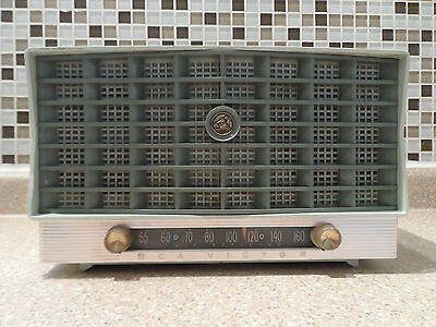 1955 RCA Victor X -110 Art Deco Cadillac Grill Mint Green Working Free Shipping!