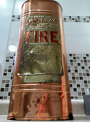 Vintage Guardian Pump Tank Extinguisher Copper Plated Umbrella Stand Oval Shape