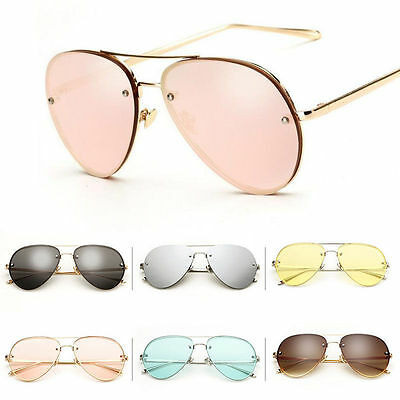 Vintage Aviator Sunglasses Women Men Retro Shades Glasses Metal Frame Eyewear