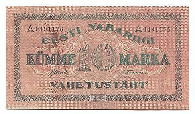 Estonia 1922 Republic of Estonia Exchange Note 10 Marka P-53b
