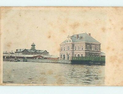 Pre-1907 BUILDING ON WATER Country Of China hJ6560