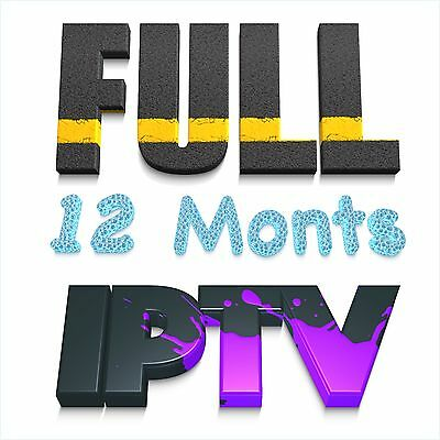12 Month IPTV Subscription (Smart TV, Kodi, MAG, iOS, Android)