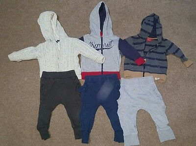 Sprout baby boys Size 0 tracksuit tops and pants bulk lot