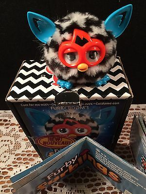 2013 FURBY FURBLING Black and White Zigzag Pattern