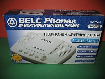 Bell Phones Telephone Answering System Answermate #62256-1 White New
