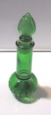 Vtg Collectable Green Genie Perfume Decanter. Avon with a number 2 on Bottom.