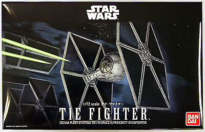 BAN194870 NEW 100% Authentic Bandai Star Wars 1/72 Tie Fighter Model Kit