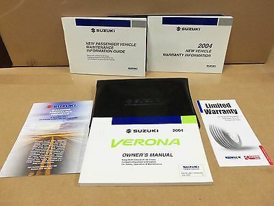 Owners Manual 2004 Suzuki Verona  Brand New handy to have with Cover WOW