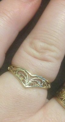 9Ct Solid Yellow Gold Filigree Ring