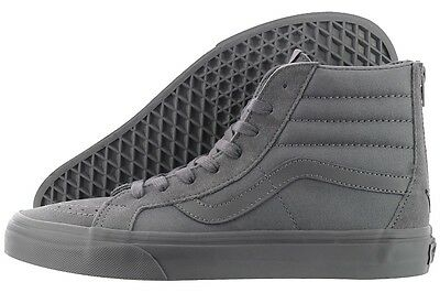 db75e28a86 Original Vans SK8-Hi Reissue Zip VN0004KYJUX Grey Suede Canvas Casual Men