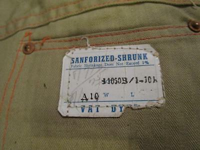 VINTAGE DESTROYED 1940's - 50's SANFORIZED BUTTON FLY FARM WORK DENIM JEANS
