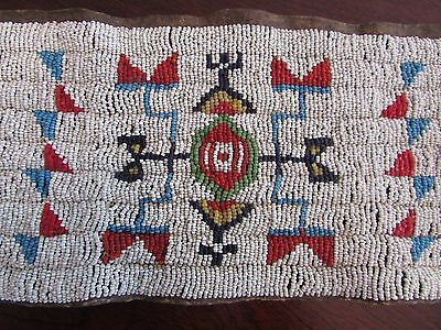 Antique Sioux  Beaded Cuffs ( pipe bag,strike a lite, catlinite, Plains Indian )