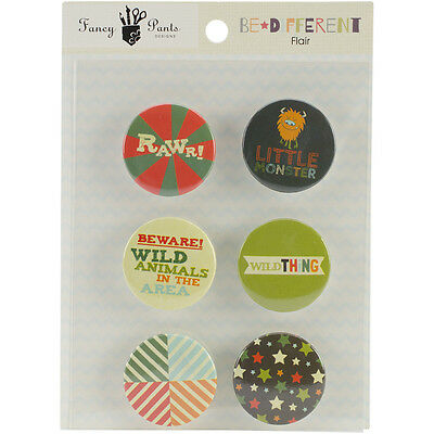 Be Different Flair Embellishments 6/Pkg  BE2250