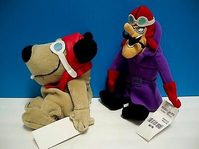 Dick Dastardly & Muttley Plush Bean-Bag Hanna-Barbera Animation Characters - Ex.