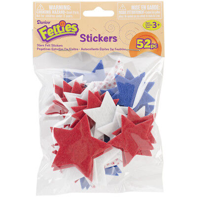 Felties Stickers 52/Pkg Stars W/Prints FLT-1007