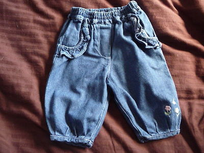 ** Pretty Floral Jeans - George (0-3 months) **