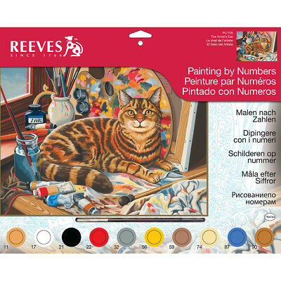 "Paint By Number Kit 12""X16"" Resting Cat PBNLG-105"