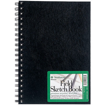 """Strathmore Premium Recycled Field Sketch Book 9""""X12"""" 70 Sheets 458900"""