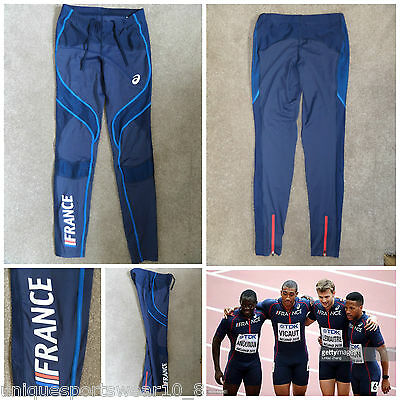2015 Men's ASICS PRO ELITE FRANCE Team Running Tights OLYMPIC Track And Field M