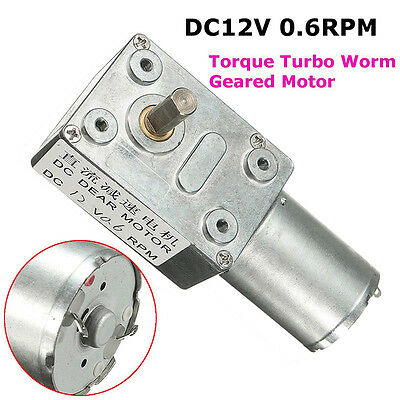 Metal DC 12V 0.6RPM Low Speed High Torque Turbo Reducer Motor Right Angle Gear